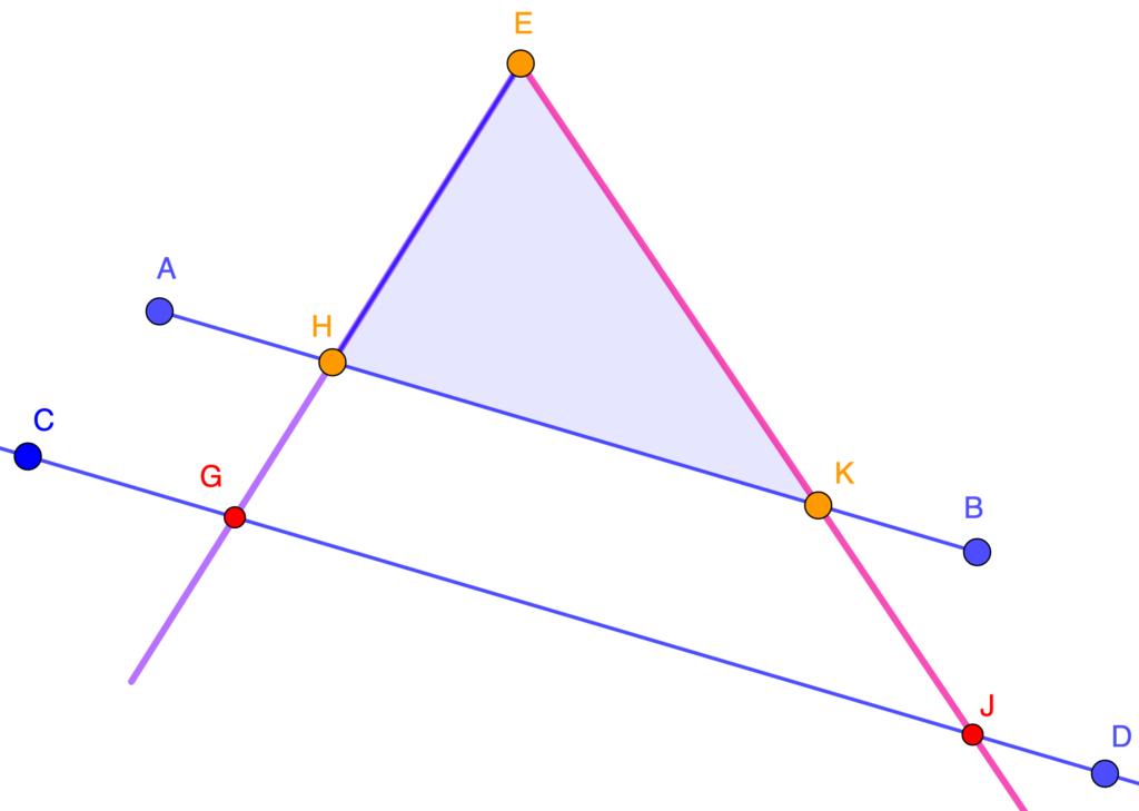 Rectas paralelas y triángulos semejantes