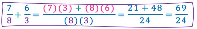 ejemplos sumas de fracciones