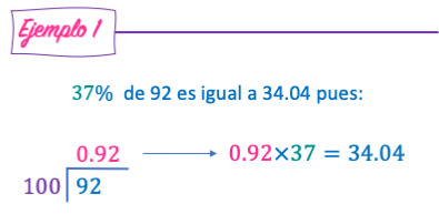 porcentajes ejemplos