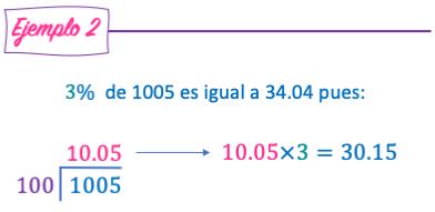 ejemplo de como calcular ejemplos