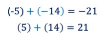 sumas con positivos y negativos
