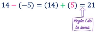 como sumas números con signo