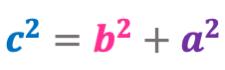 Fórmula del Teorema de Pitágoras
