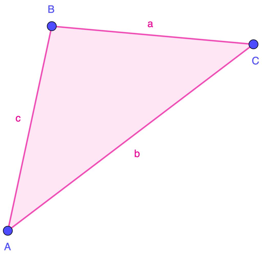 Escritura de un triángulo